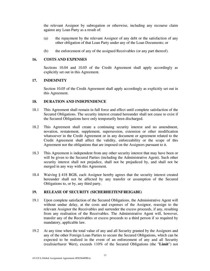Exglobalassignmentag Inside Claim Assignment Agreement Template