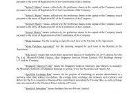 Exhibitshareissuancea regarding Share Purchase Agreement Template Singapore
