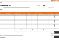 Expense Report Templates  Word Excel Formats for Microsoft Word Expense Report Template