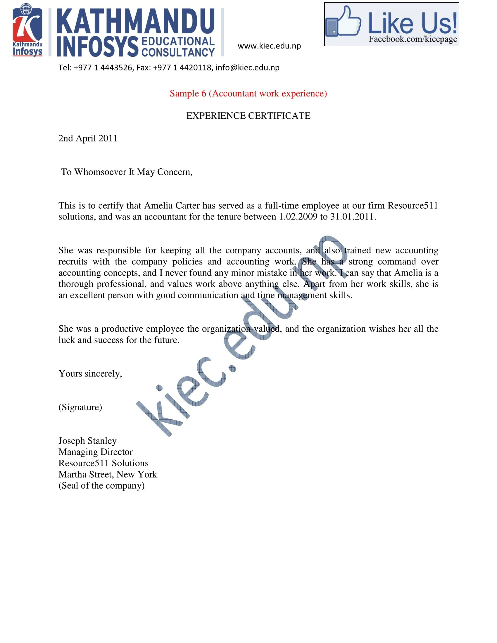 Experience Letter Templates In Pdf  Free  Premium Templates Throughout Officer Promotion Certificate Template