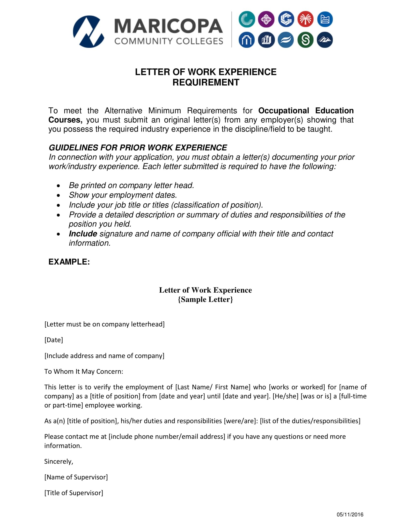 Experience Letter Templates In Pdf  Free  Premium Templates Throughout Template Of Experience Certificate