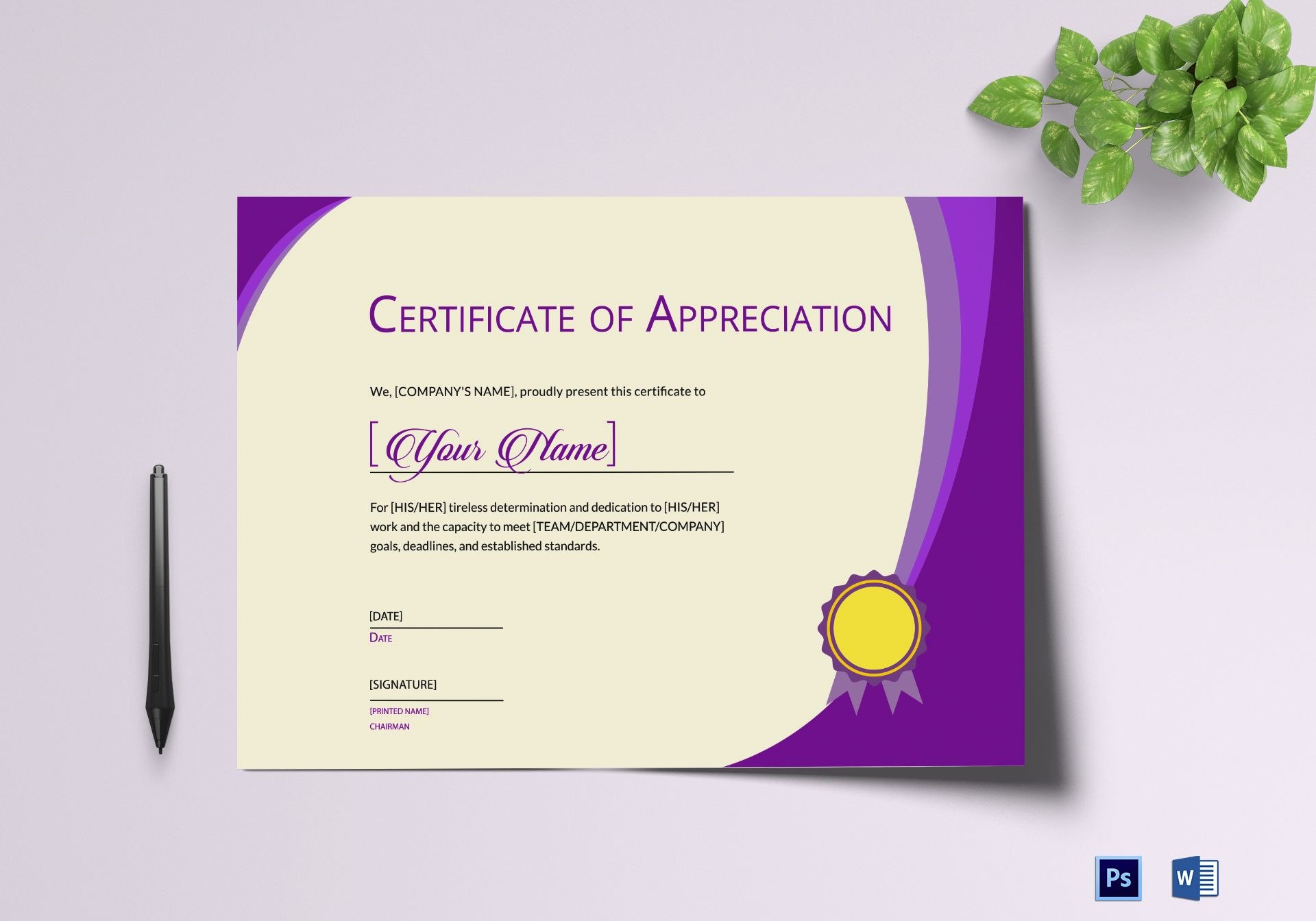 Expression Of Thank You Certificate Design Template In Psd Word Intended For Thanks Certificate Template