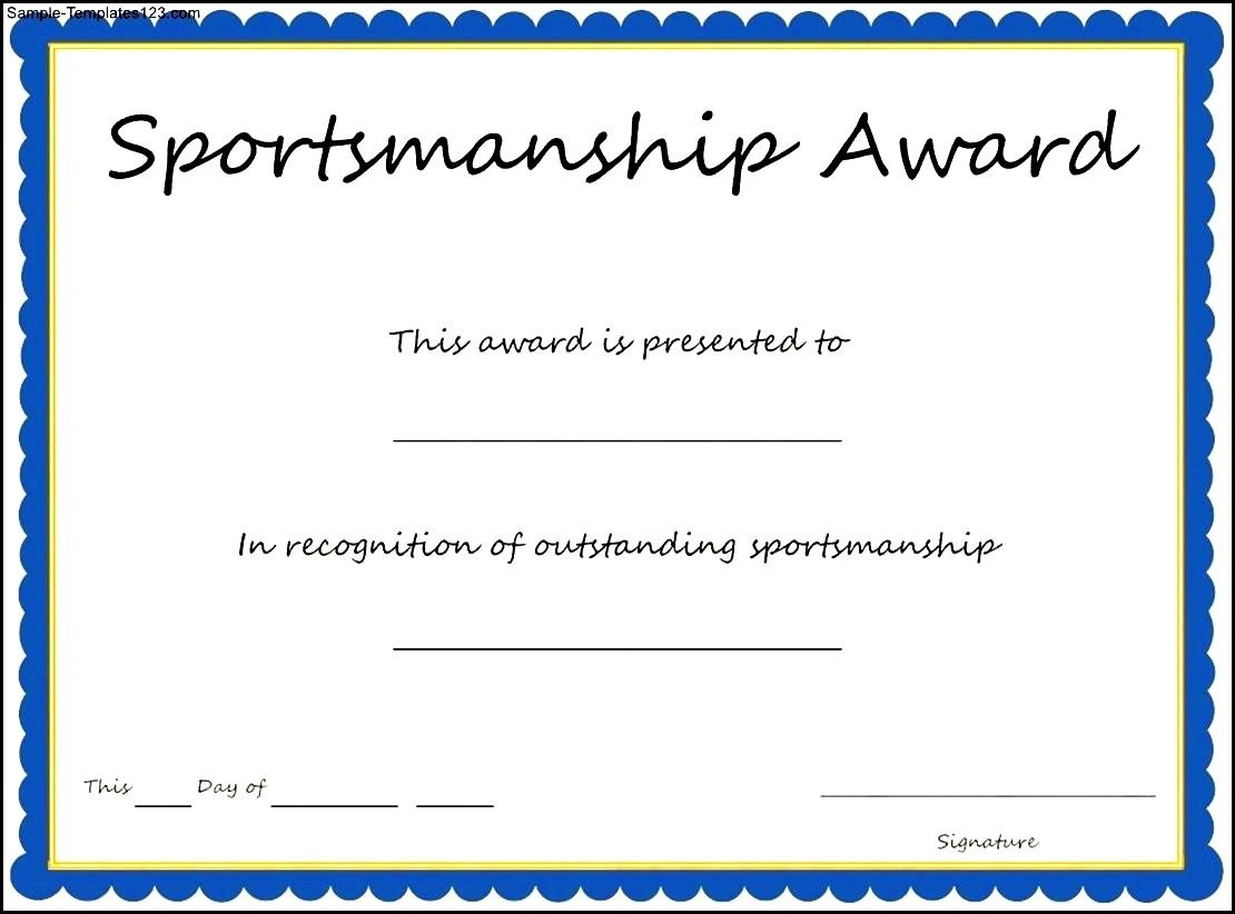 Extra Effort Award Template Sample Templates Outstanding Certificate Regarding Sports Day Certificate Templates Free