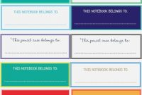 Facts You Never Knew About Free  Label Information Ideas within Notebook Label Template