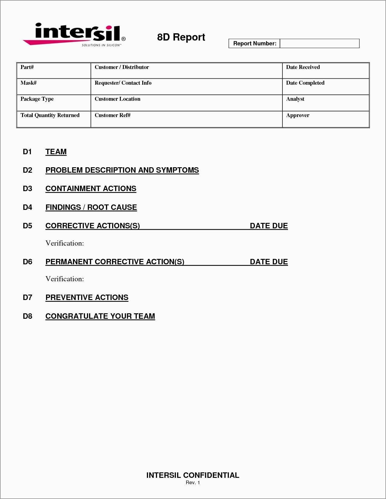 Failure Analysis Report Template Free Fabulous  Root Cause Failure Inside Failure Analysis Report Template