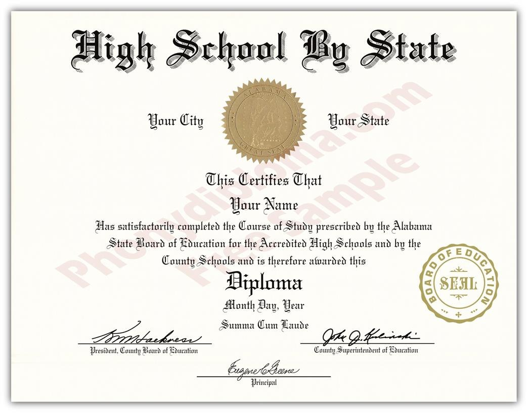 Fake Usa High School Diplomasstate  Phonydiploma Pertaining To Fake Diploma Certificate Template
