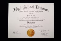 Fakehighschooldiplomatemplate  Jeffrey D Brammer  Fake High for Fake Diploma Certificate Template