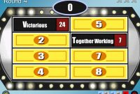 Family Feud Customizable Powerpoint Template  Youth Downloadsyouth with Price Is Right Powerpoint Template