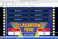 Family Feud Powerpoint Template  Youtube regarding Family Feud Game Template Powerpoint Free