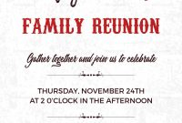 Family Reunion Invitation Card Design Template In Word Psd Publisher throughout Reunion Invitation Card Templates