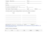Family Reunion Registration Form Template  Family Reunions  Family inside Event Survey Template Word