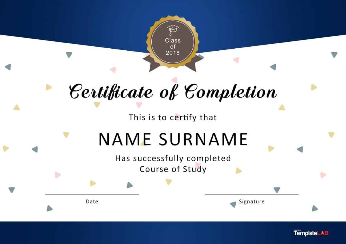 Fantastic Certificate Of Completion Templates Word Powerpoint For Certificate Of Completion Template Word