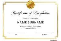 Fantastic Certificate Of Completion Templates Word Powerpoint intended for Free Certificate Of Completion Template Word