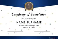 Fantastic Certificate Of Completion Templates Word Powerpoint regarding Training Certificate Template Word Format