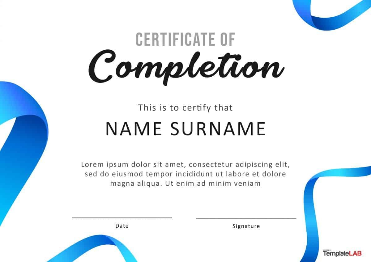 Fantastic Certificate Of Completion Templates Word Powerpoint With Certificate Of Excellence Template Word