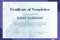 Fantastic Certificate Of Completion Templates Word Powerpoint with Certification Of Completion Template