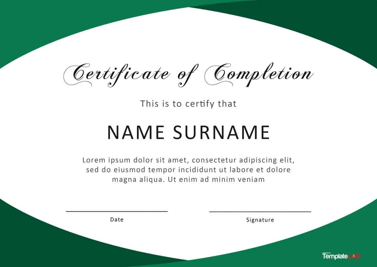 Fantastic Certificate Of Completion Templates Word Powerpoint With Regard To Certificate Of Completion Free Template Word