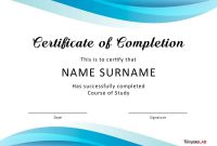 Fantastic Certificate Of Completion Templates Word Powerpoint with regard to Free Training Completion Certificate Templates