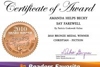 Farewell Certificate Template  Mandegar pertaining to Farewell Certificate Template