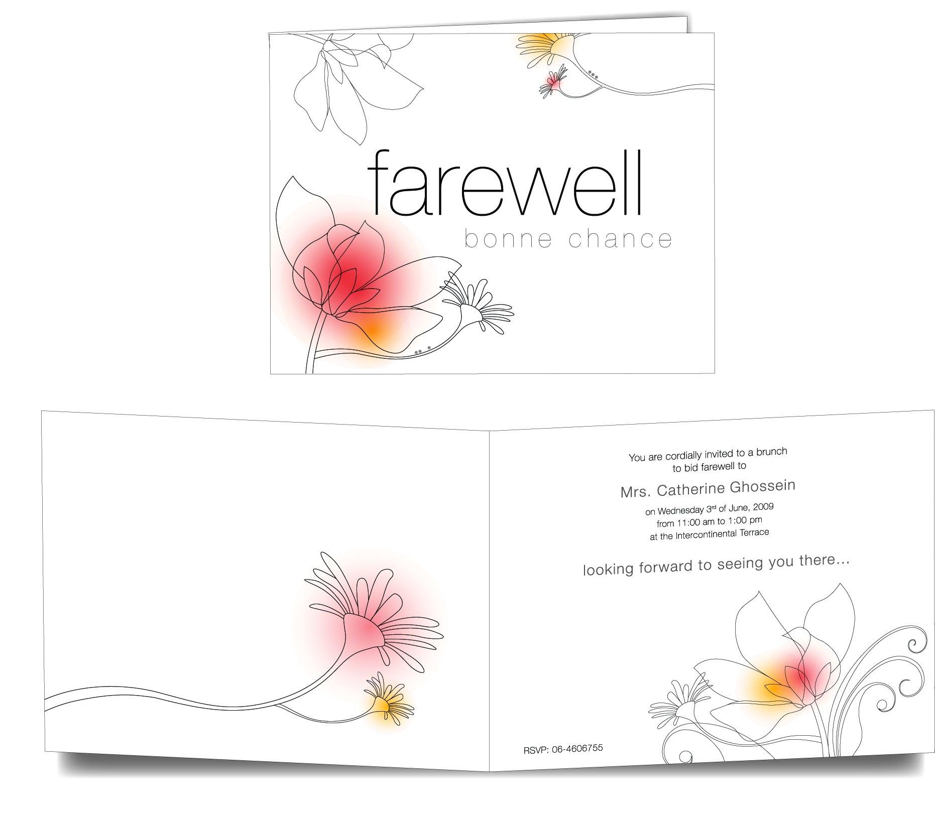 Farewell Design Card – Template For Farewell Card Template Word