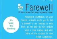 Farewell Party Invitation Flyer Template  Party Invitation Card In inside Farewell Invitation Card Template