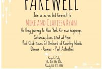 Farewell Party Invitation Wording For The Office  Interior Design with regard to Farewell Invitation Card Template