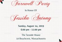Farewell Party Invitations Templates Invitation Template pertaining to Farewell Card Template Word