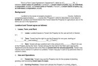 Farm Lease Agreement Templates  Pdf Word  Free  Premium Templates within Farm Business Tenancy Template
