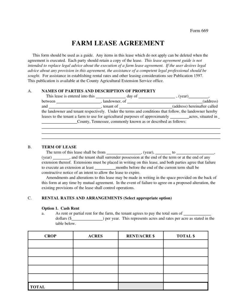 Farm Lease Agreement Templates  Pdf Word  Free  Premium Within Farm Land Lease Agreement Template
