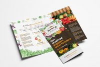 Farmers Market Trifold Brochure Template In Psd Ai  Vector with regard to Nutrition Brochure Template