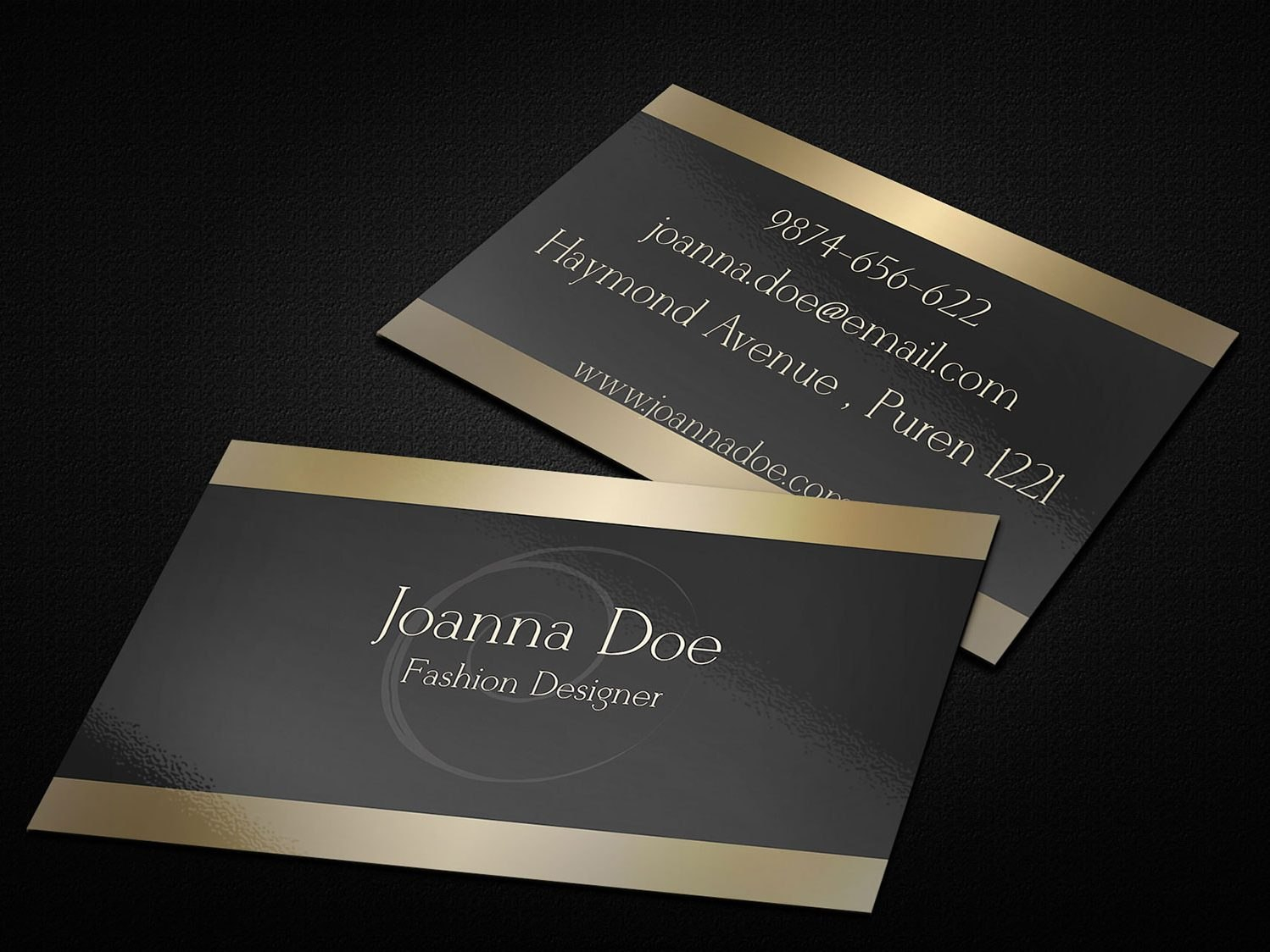 Fashion Designer Business Card Template  Business Cards Lab Throughout Designer Visiting Cards Templates
