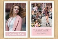 Fashion Model Comp Card Template Modeling Comp Card Ms  Etsy in Comp Card Template Download