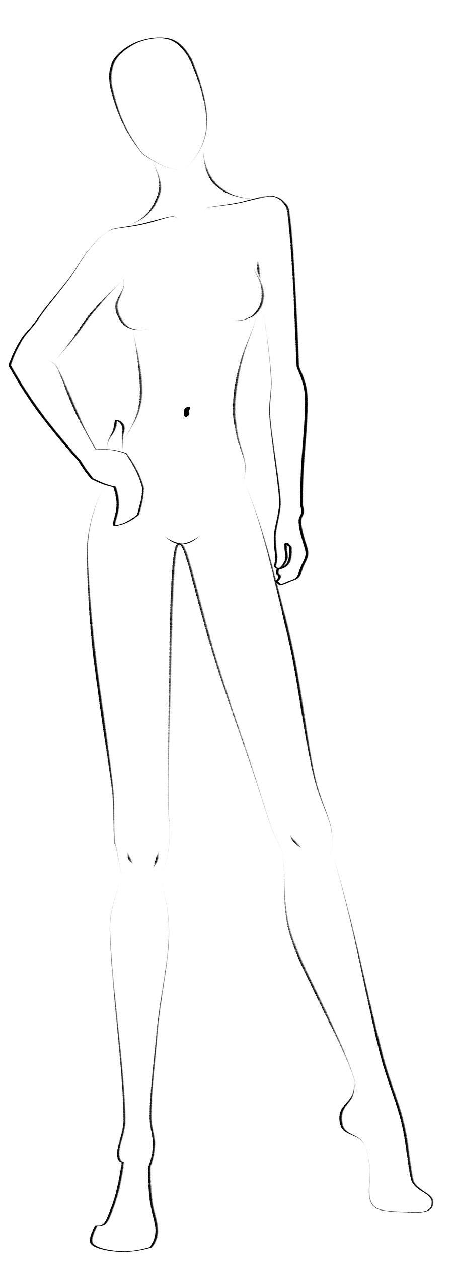 Fashion Templates   Free Designs Inspiration Jpg Format Regarding Blank Model Sketch Template