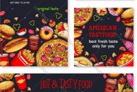 Fast Food Meal For Restaurant Banner Template Vector Image for Food Banner Template