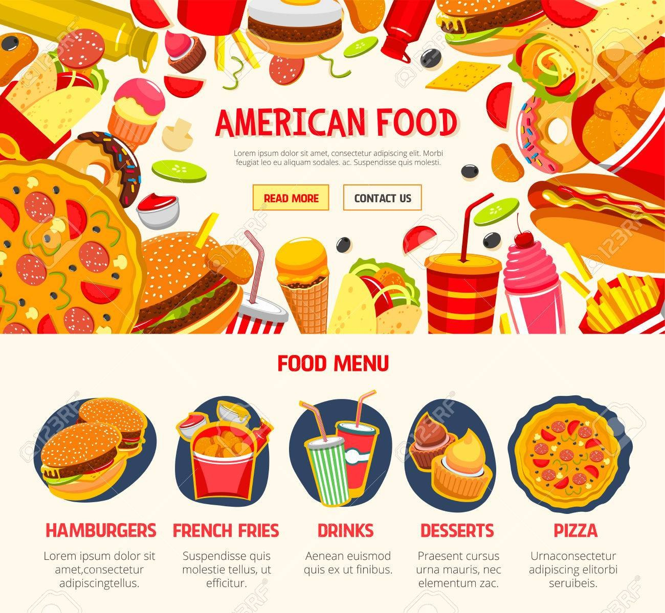 Fast Food Restaurant Menu Banner Template Royalty Free Cliparts In Food Banner Template