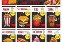 Fast Food Restaurant Menu Board Template Design for Menu Board Design Templates Free