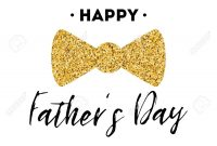 Fathers Day Card Design With Lettering Golden Bow Tie Butterfly with regard to Tie Banner Template