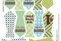 Fathers Day Free Printabletie Banner And Cupcake Toppers  Crafts throughout Tie Banner Template
