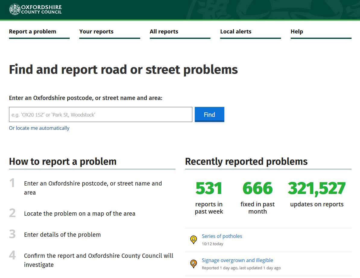 Faultreporting Software  Mysociety For Equipment Fault Report Template