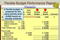Fearsome Flexible Budget Performance Report Template Plan Templates regarding Flexible Budget Performance Report Template