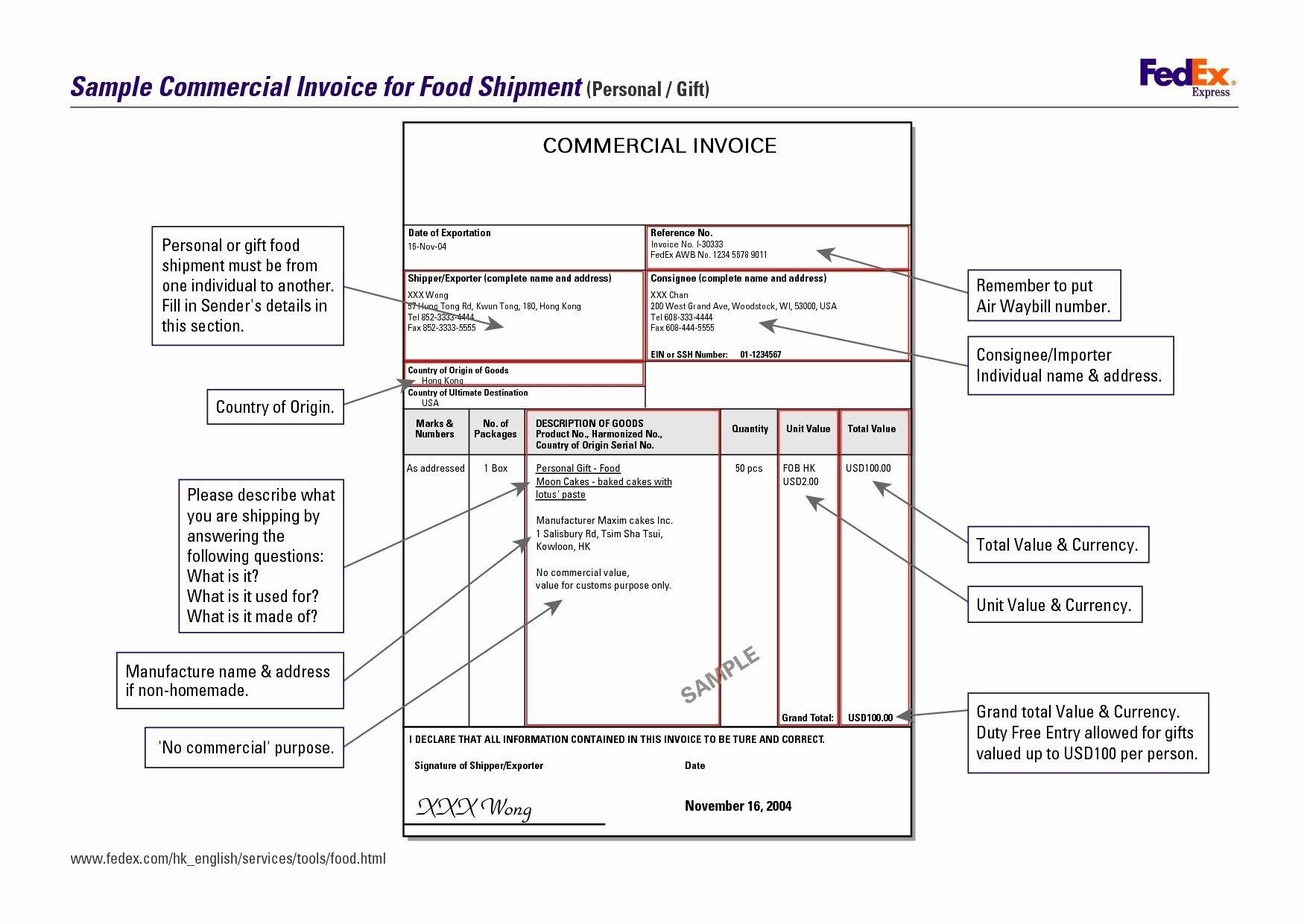 Fedex Proforma Invoice Template  Template Modern Design In Fedex Proforma Invoice Template