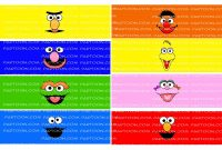File Template Mini Pringles Labels Potato Sesame Street  Etsy regarding Sesame Street Label Templates