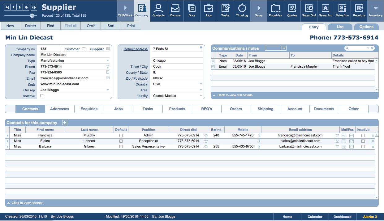 Filemaker Business Templates  Jobpro Central Features Inside Filemaker Business Templates