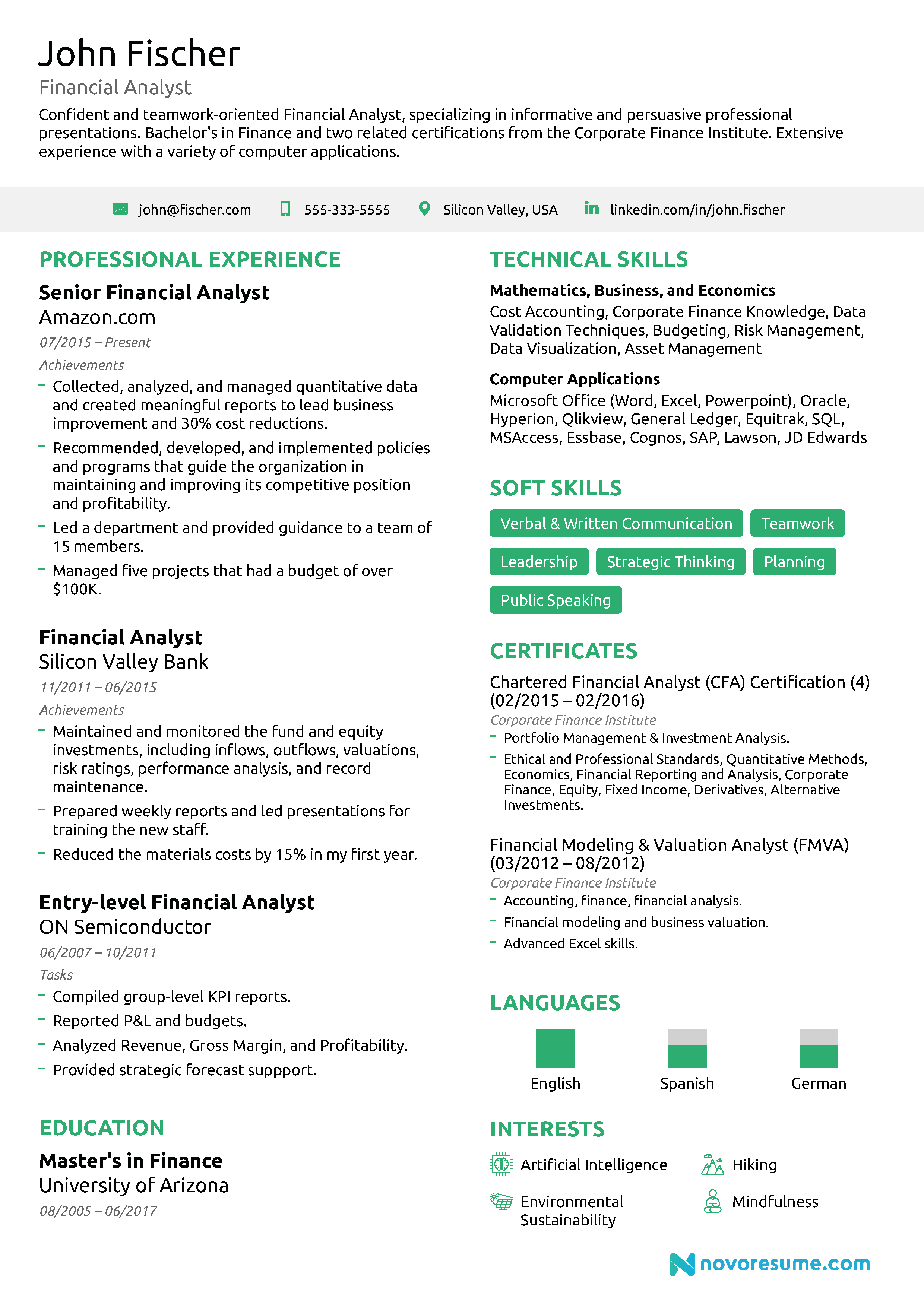 Financial Analyst Resume   Guide  Examples Within Credit Analysis Report Template