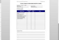 Financial Management Meeting Agenda Template within Free Meeting Agenda Templates For Word