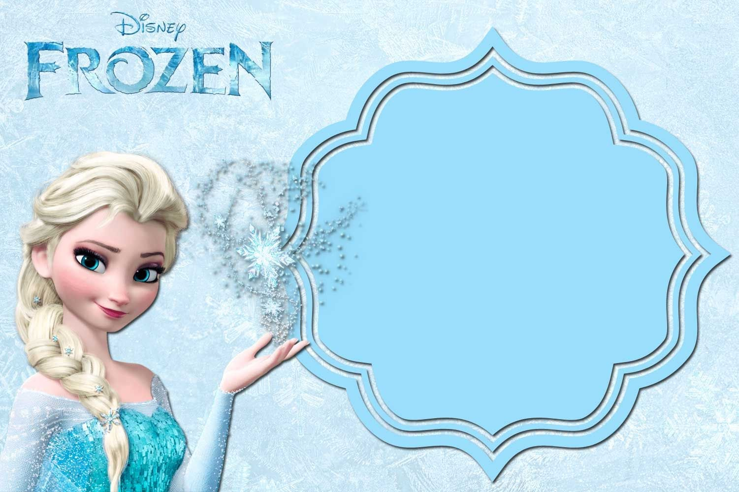 Find A Big Collection Of Party Invitation Template Frozen Word With Regard To Frozen Birthday Card Template