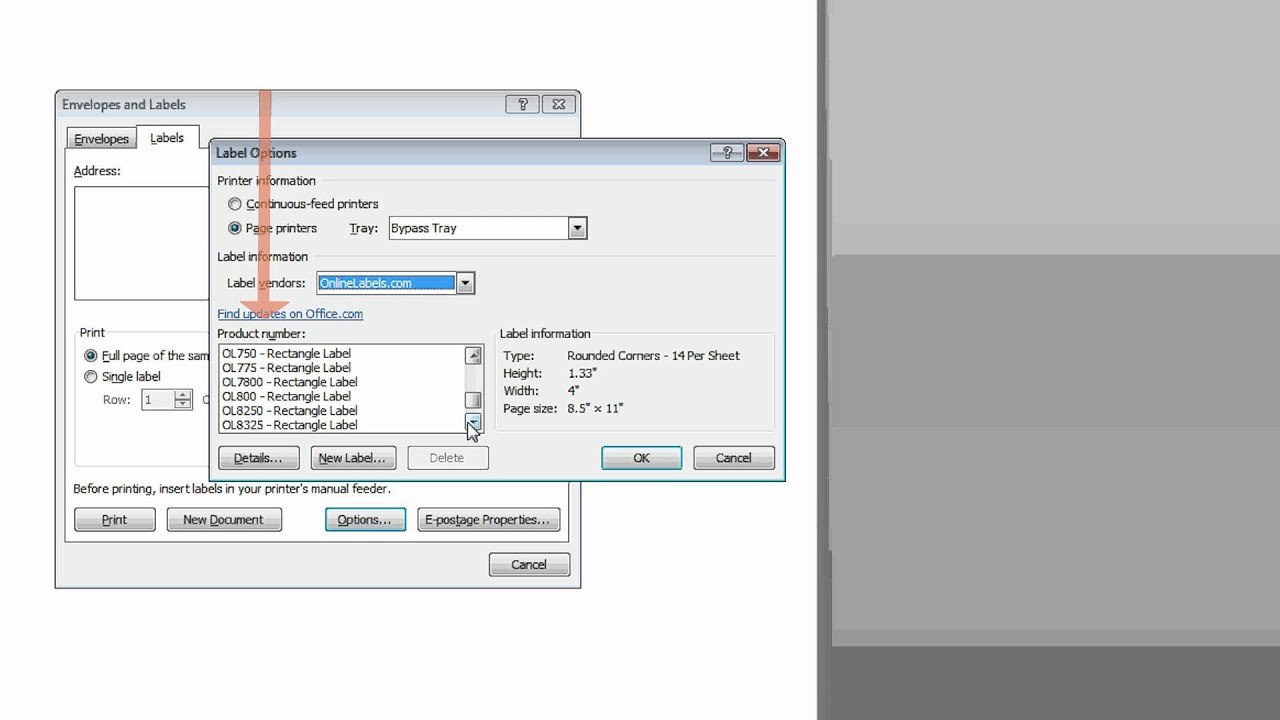 Find A Label Template In Microsoft Word Using Vendor Name  Youtube Intended For Label Printing Template Free