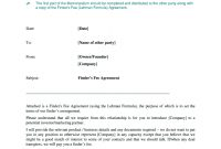 Finder Fee Agreement Sample  Fill Online Printable Fillable with regard to Real Estate Finders Fee Agreement Template