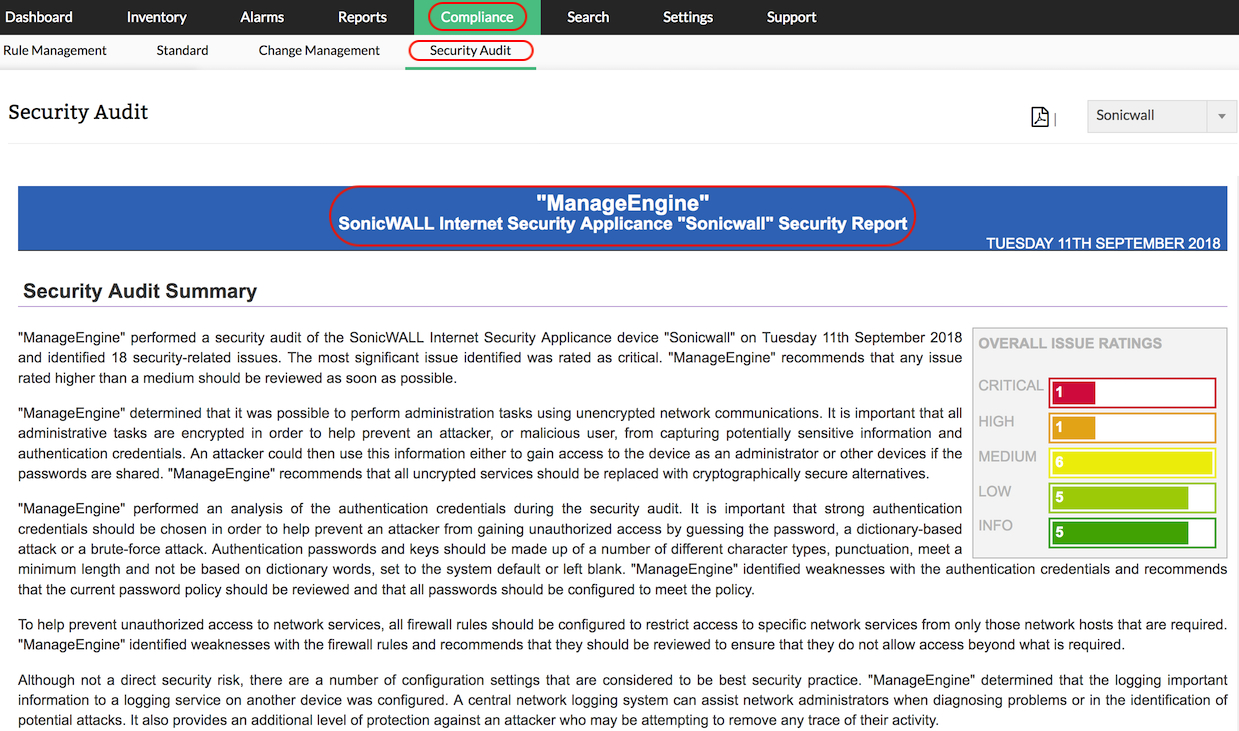 Firewall Security Audit  Firewall Configuration Analysis Tool Throughout Data Center Audit Report Template