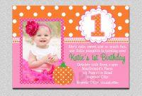 First Birthday Invitation Templates Invitations Girl For with First Birthday Invitation Card Template